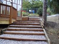 Landscaping Project - Bottom View Of Steps