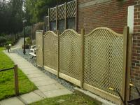 Landscaping Project - Trellis Fencing (2)